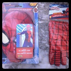 Marvel Spider-Man Body Suit & Mask and Glove Set